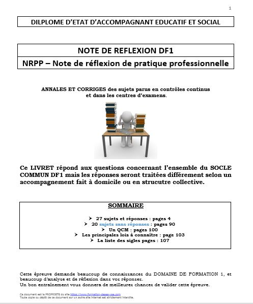 Annales et corriges notes de reflexion df1 1