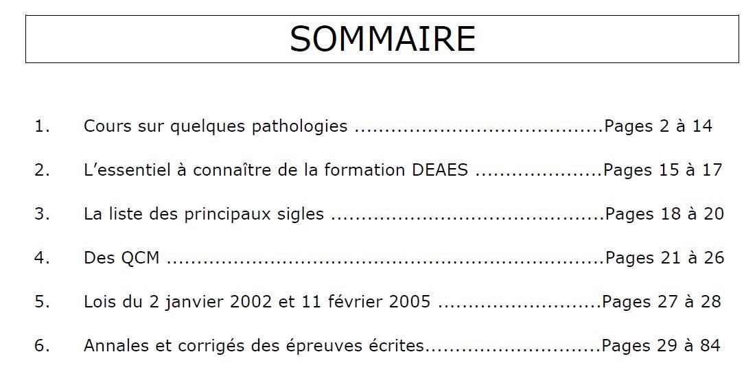 Page sommaire